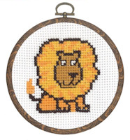 Permin - My First Cross Stitch (Framed) Kit - Lion