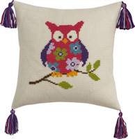 Permin Cross Stitch - Cushion Kit - Owl