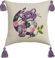 Permin Cross Stitch - Cushion Kit - Cat