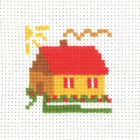 Permin - My First Cross Stitch - Mini Kit - House