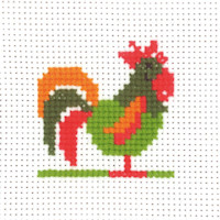 Permin - My First Cross Stitch - Mini Kit - Cockerel