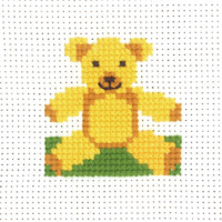 Permin - My First Cross Stitch - Mini Kit - Teddy Bear