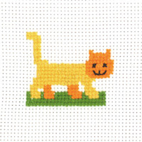 Permin - My First Cross Stitch - Mini Kit - Cat