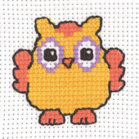 Permin - My First Cross Stitch - Mini Kit - Orange Owl