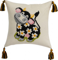 Permin Cross Stitch - Cushion Kit - Cow
