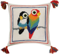 Permin Cross Stitch - Cushion Kit - Birds