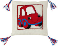 Permin Cross Stitch - Cushion Kit - The Red Car