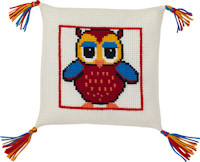 Permin Cross Stitch - Cushion Kit - Red Owl