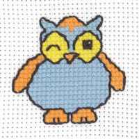 Permin - My First Cross Stitch - Mini Kit - Blue Owl