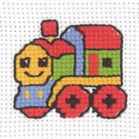 Permin - My First Cross Stitch - Mini Kit - Train