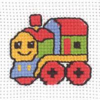 Permin - My First Cross Stitch - Mini Kit - Train
