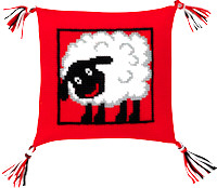 Permin Cross Stitch - Cushion Kit - Sheep