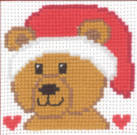Permin - My First Cross Stitch Kit - Christmas Teddy