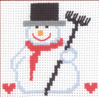 Permin - My First Cross Stitch Kit - Snowman