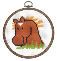 Permin - My First Cross Stitch (Framed) Kit - Horse