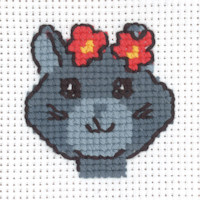 Permin - My First Cross Stitch - Mini Kit - Grey Cat