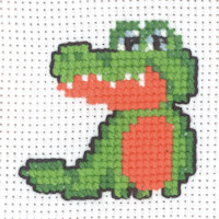 Permin - My First Cross Stitch - Mini Kit - Crocodile