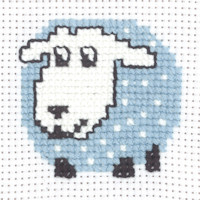 Permin - My First Cross Stitch - Mini Kit - Sheep