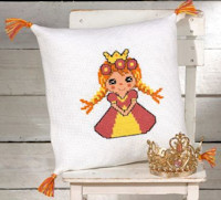 Permin Cross Stitch - Cushion Kit - Princess