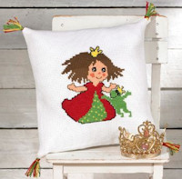 Permin Cross Stitch - Cushion Kit - Princess and Frog