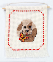 Permin - My First Kit - Cross Stitch - Puppy