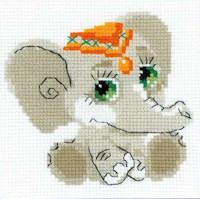 Riolis - Happy Bee Beginners' Cross Stitch - Baby Elephant