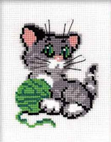 Riolis - Beginners' Cross Stitch - Kitten with Ball of Wool