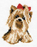 Riolis - Beginners' Cross Stitch - Yorkie