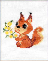 Riolis - Beginners' Cross Stitch - Small Squirrel