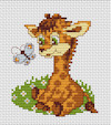 Luca-S Broderie - Mini Cross Stitch Kit - Baby Giraffe