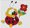 Luca-S Broderie - Mini Cross Stitch Kit - Ladybird with Flower