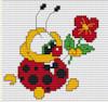 Ladybird with Flower
