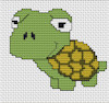 Luca-S Broderie - Mini Cross Stitch Kit - Tortoise