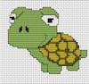 Luca-S Broderie - Mini Cross Stitch Kit - Tortoise