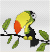Luca-S Broderie - Mini Cross Stitch Kit - Toucan