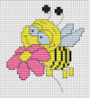 Luca-S Broderie - Mini Cross Stitch Kit - Bee